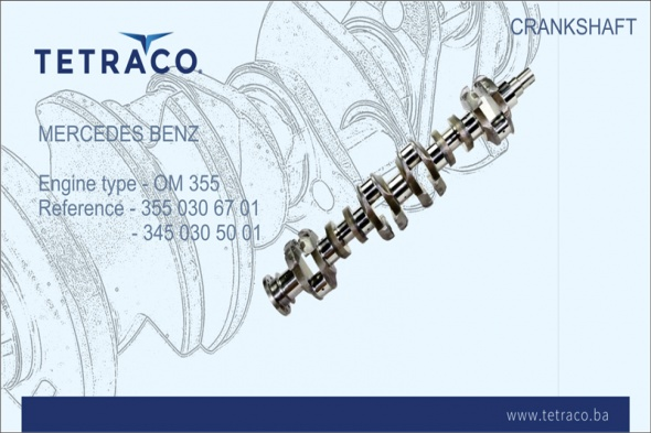 Mercedes Benz Crankshaft OM 355