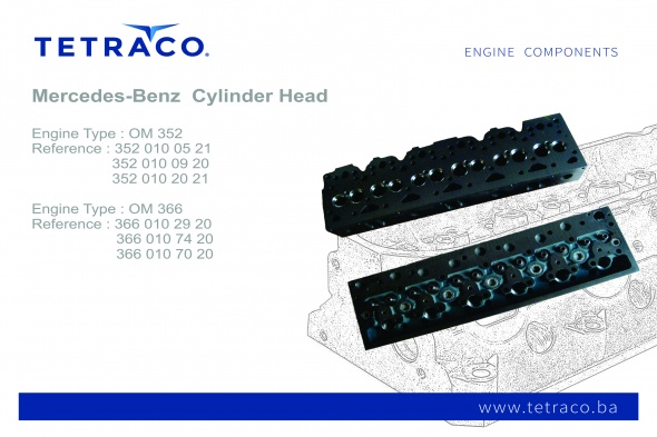 Mercedes Benz Cylinder Head OM 352 / OM 366
