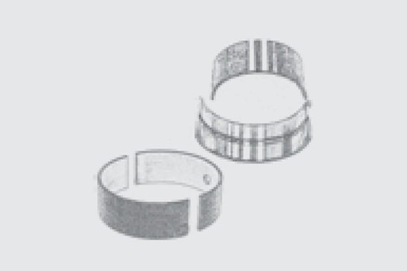 Main and connecting rods bearing
